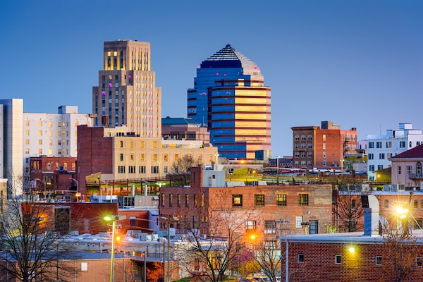 The Durham, NC skyline