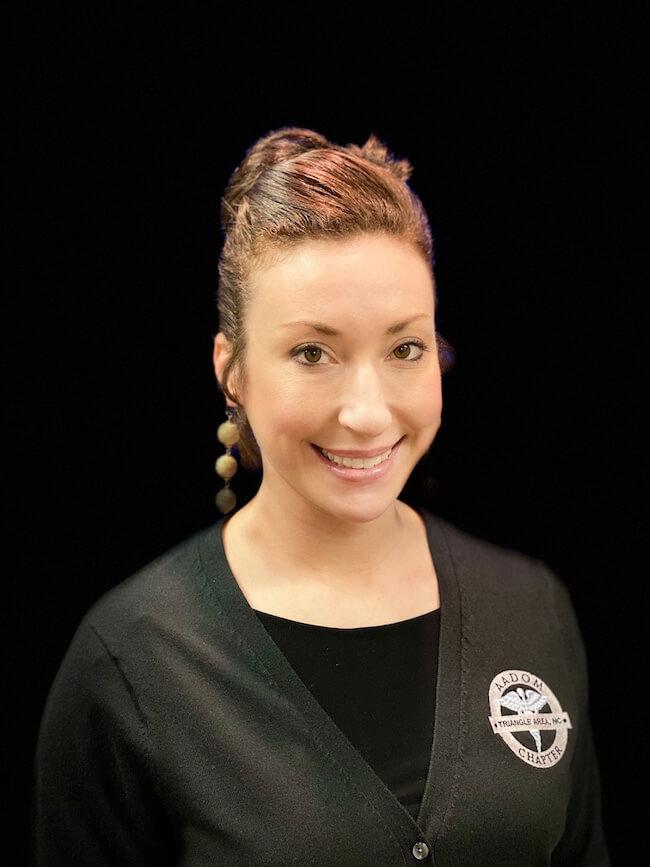 Headshot of Jessie Torrey, the Co-Secretary at the Triangle Area Chapter AADOM