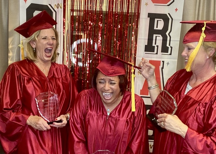 MAADOM graduates celebrating